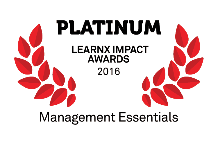 management, award, Platinum Award for Management Essentials Series at LearnX Impact Awards, Video Arts
